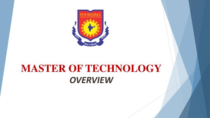 master of technology overview n.