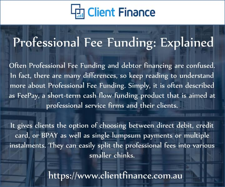 professional fee funding explained n.