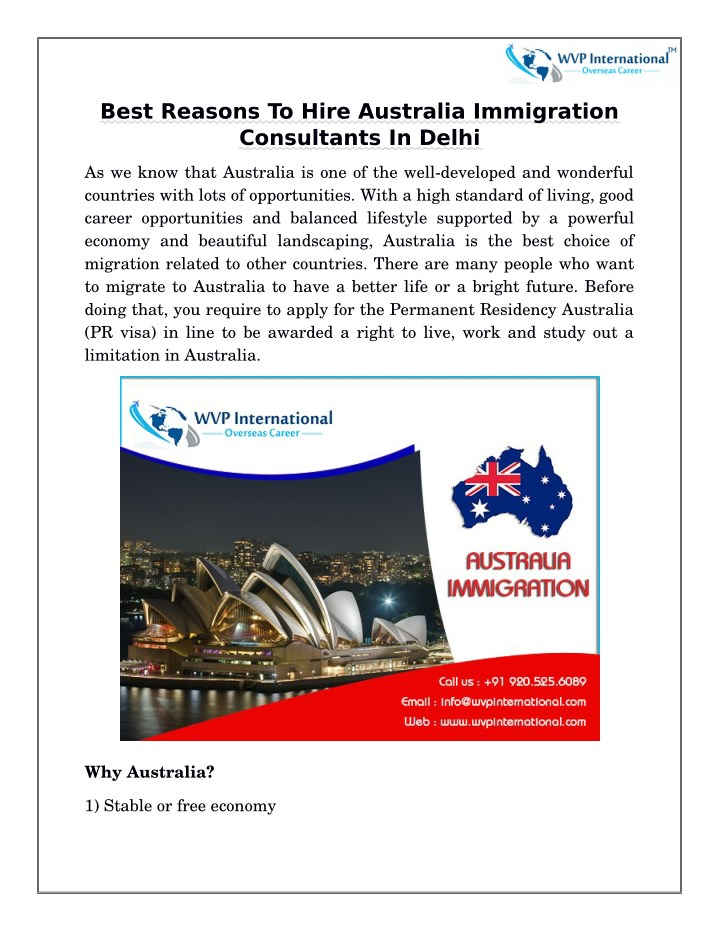 best reasons to hire australia immigration n.