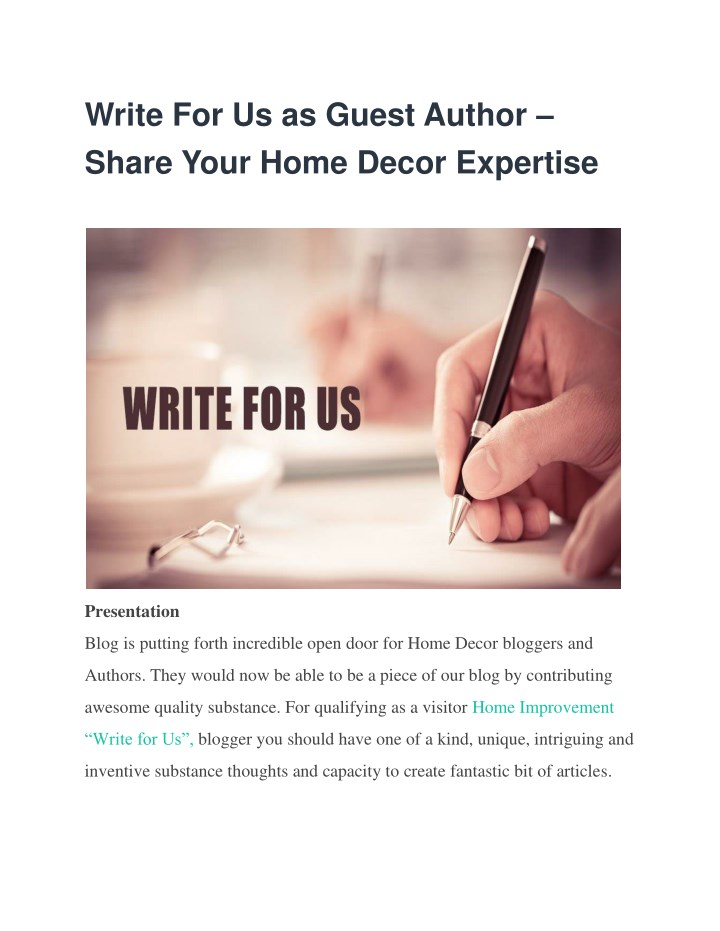 write for us as guest author share your home n.