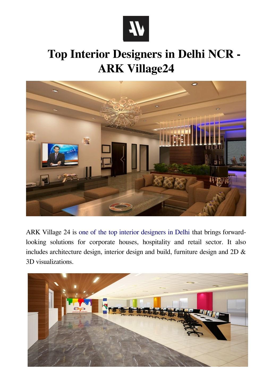 Ppt Top Interior Designers In Delhi Ncr Ark Village24 Powerpoint Presentation Id 8025089