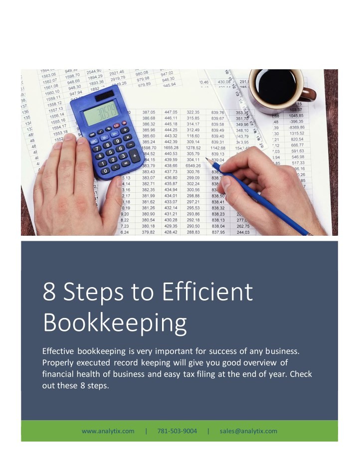 8 steps to efficient bookkeeping n.