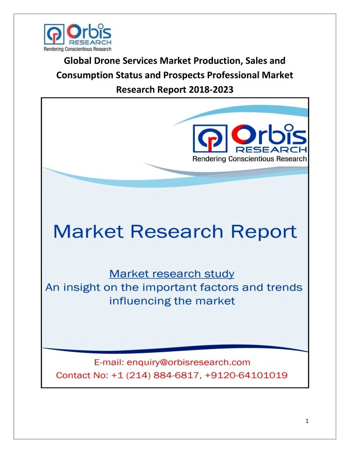 global drone services market production sales n.