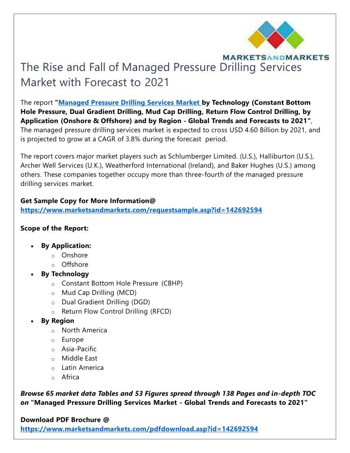 the rise and fall of managed pressure drilling n.