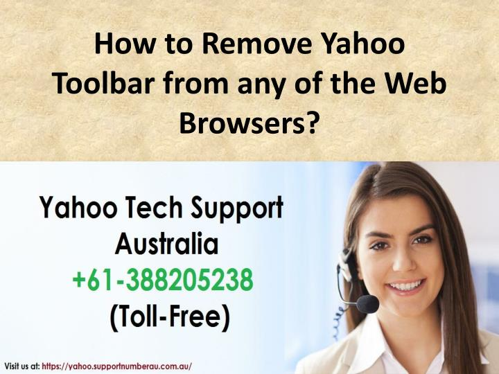 how to remove yahoo toolbar from any of the web browsers n.