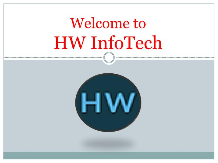 welcome to hw infotech n.