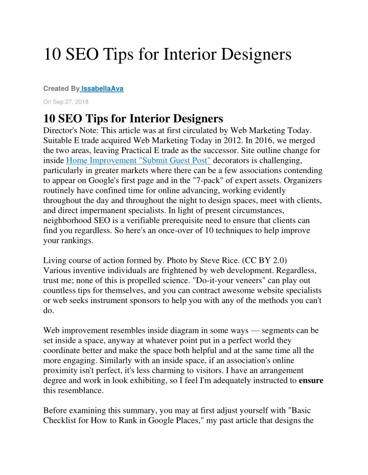 10 seo tips for interior designers n.