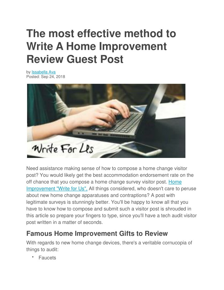 the most effective method to write a home n.