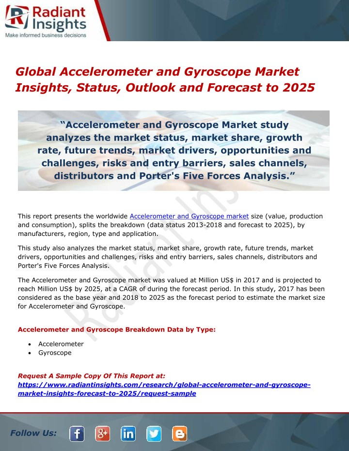 global accelerometer and gyroscope market n.