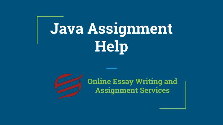 java assignment help n.