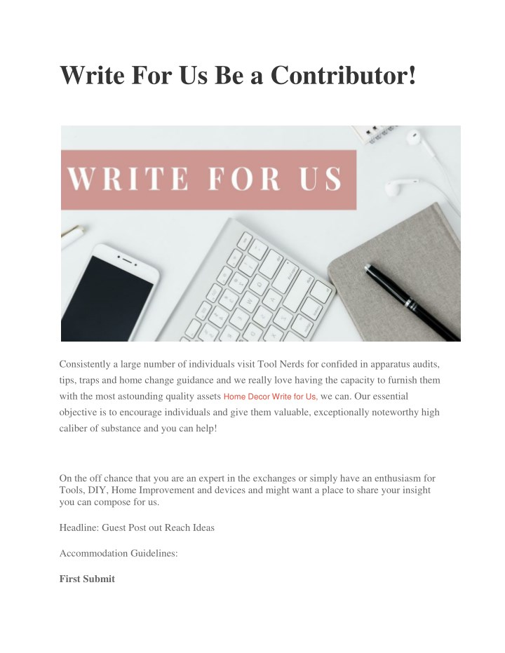 write for us be a contributor n.
