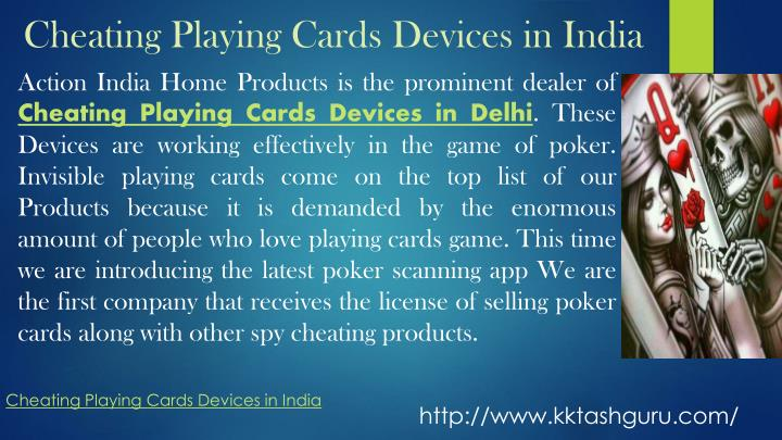 cheating playing cards devices in india n.