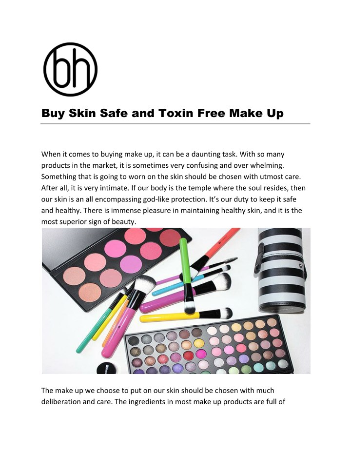 buy skin safe and toxin free make up n.