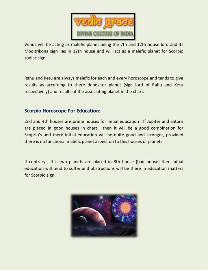 PPT - Scorpio Horoscope Explain by Astrologer Vinayak Bhatt