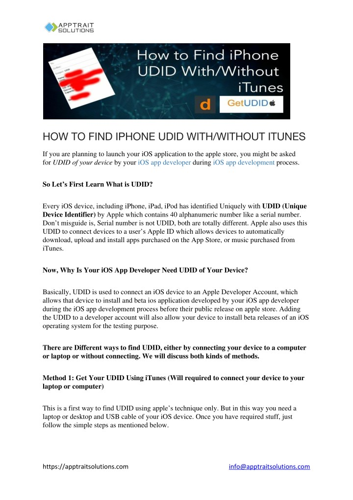 PPT - Learn How to Find iPhone UDID PowerPoint Presentation