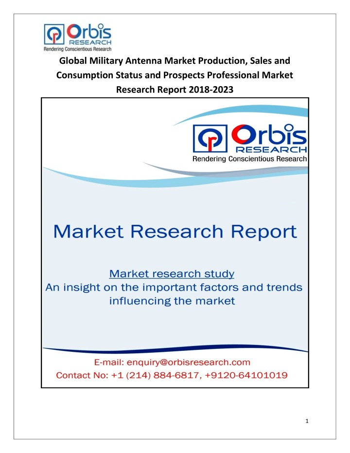 global military antenna market production sales n.