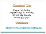 elegant marketing 4041 hastings st burnaby