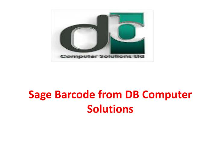 sage barcode from db computer solutions n.