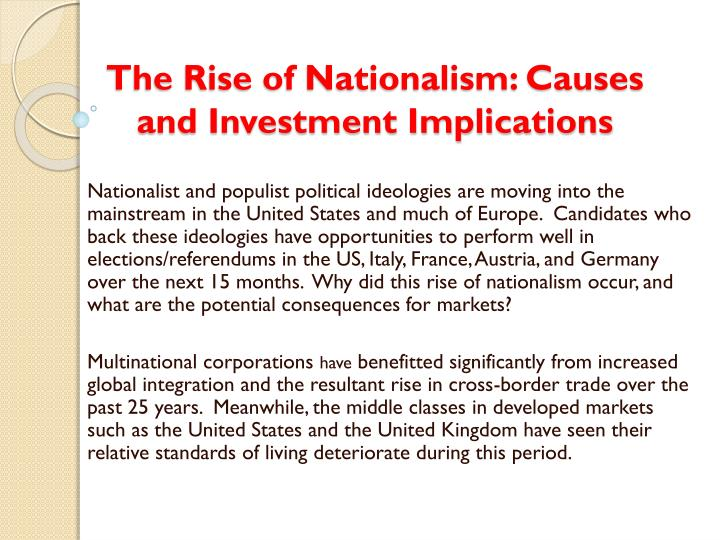 the rise of nationalism causes and investment implications n.