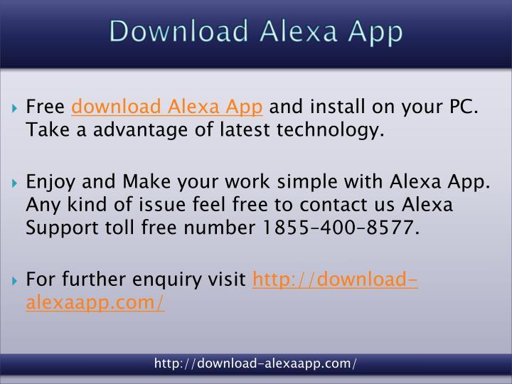 PPT - Alexa Echo Setup | Download Alexa App PowerPoint Presentation