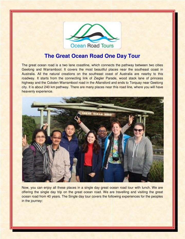 the great ocean road one day tour n.