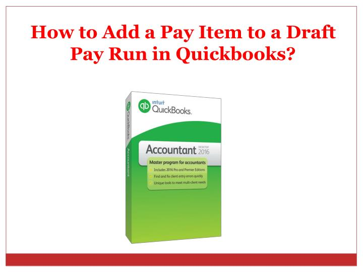 how to add a pay item to a draft n.