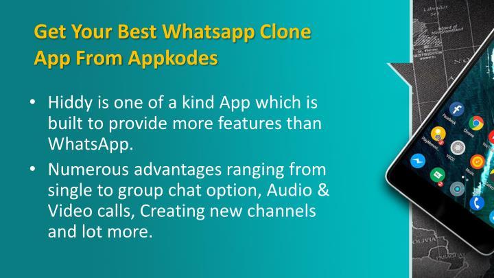 PPT - Best WhatsApp Clone App-Hiddy PowerPoint Presentation