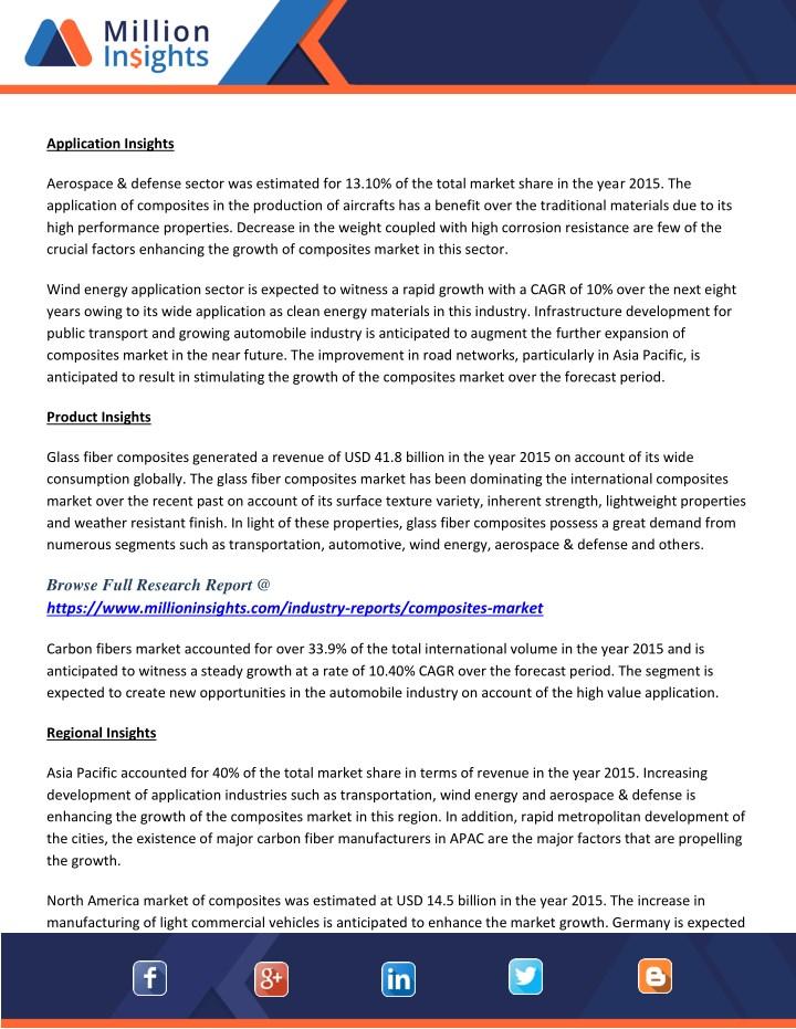 PPT - Composites Market Research Scope & Assumptions Till 2024