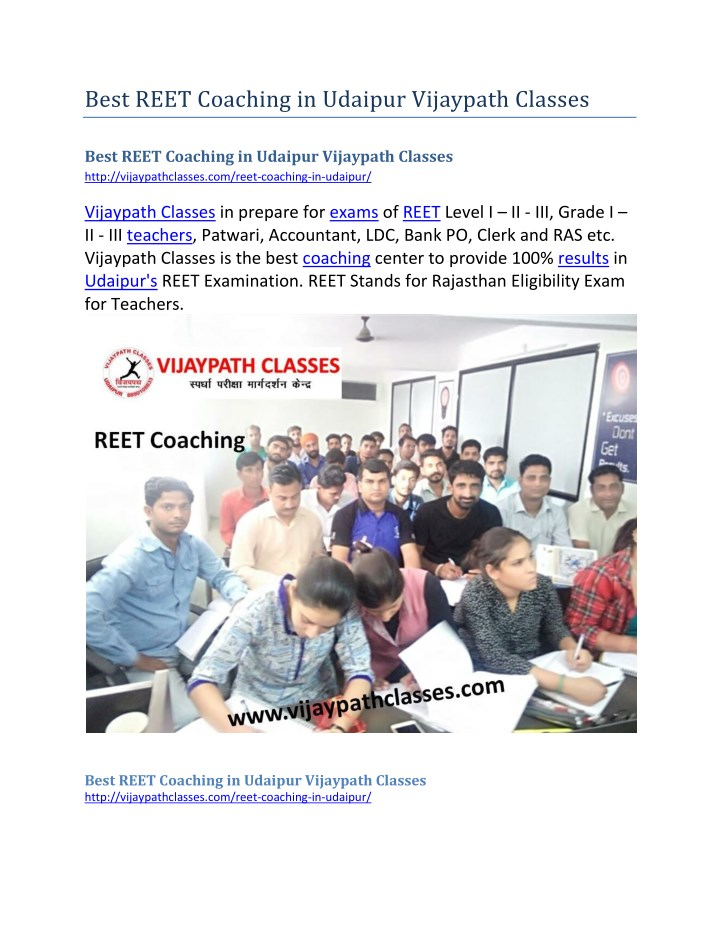 best reet coaching in udaipur vijaypath classes n.
