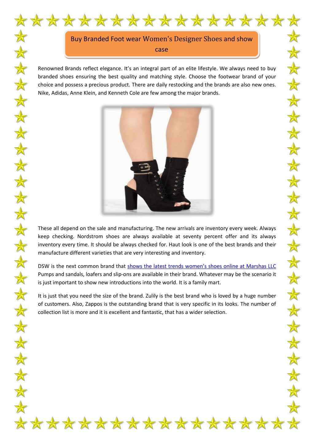 Ppt Buy Branded Foot Wear Women S Designer Shoes And Showcase Powerpoint Presentation Id 8028792