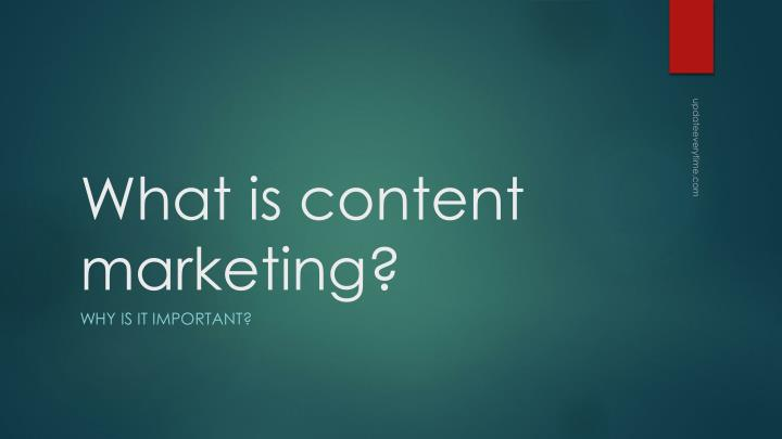 what is content marketing n.