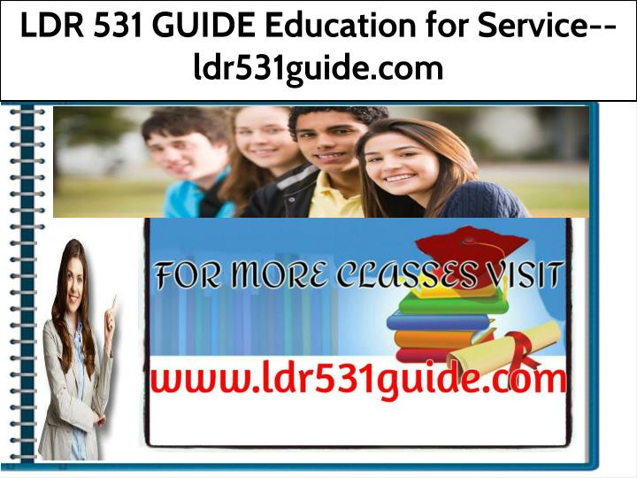 ldr 531 guide education for service ldr531guide n.