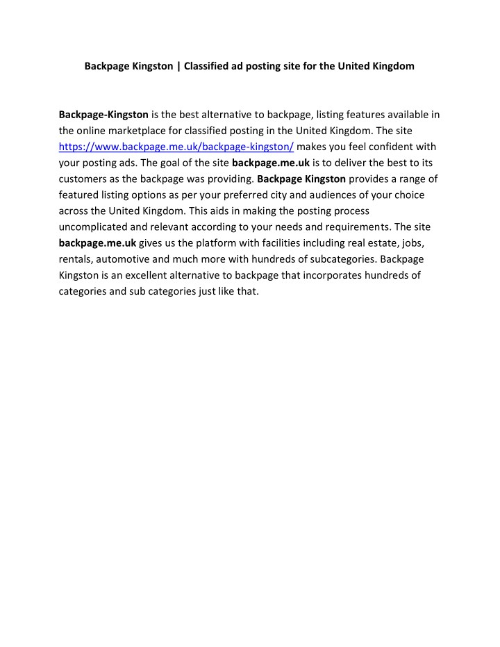 backpage kingston classified ad posting site n.