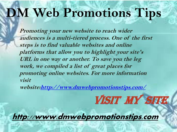 promoting your new website to reach wider n.