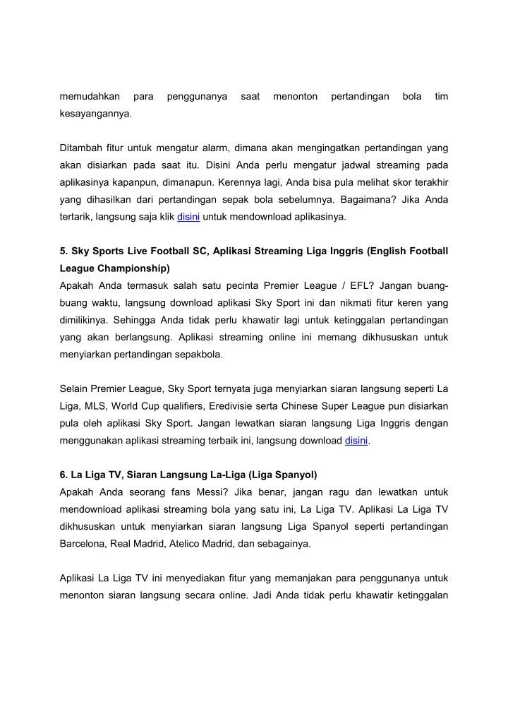 Ppt Kumpulan Aplikasi Streaming Sepakbola Android Powerpoint