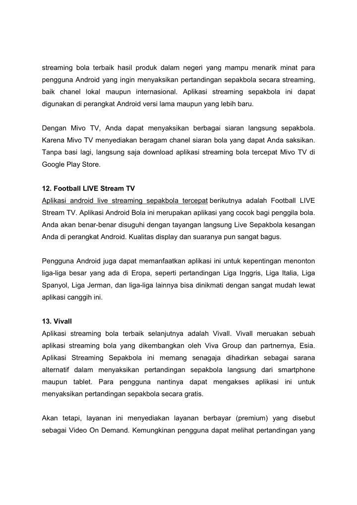 Ppt Kumpulan Aplikasi Streaming Sepakbola Android Powerpoint