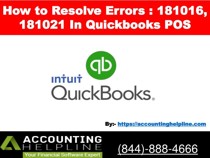 how to resolve errors 181016 181021 in quickbooks pos n.