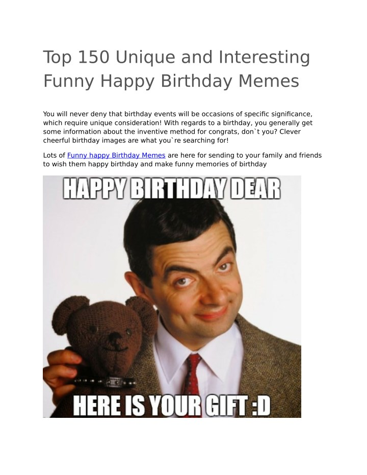 Ppt Funny Happy Birthday Memes Powerpoint Presentation