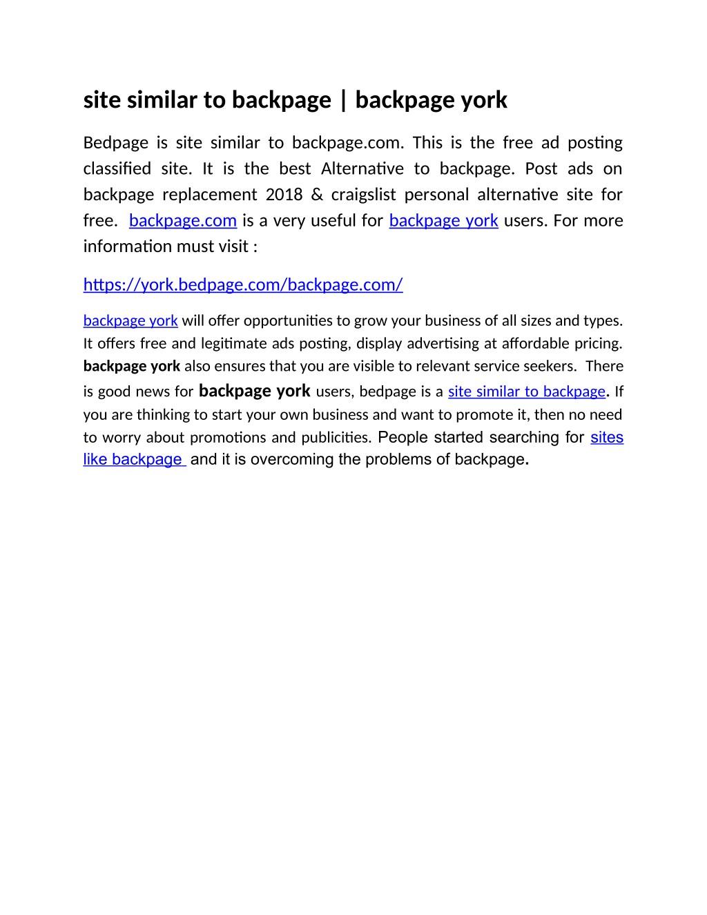 craigslist albany backpage