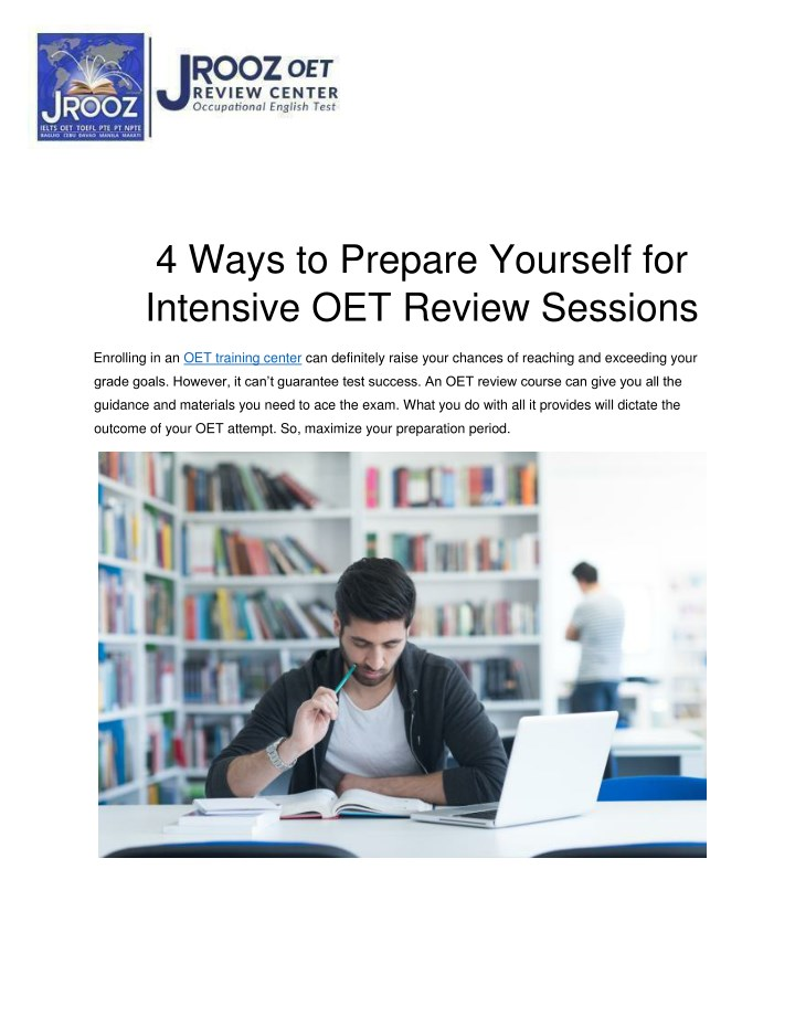 4 ways to prepare yourself for intensive n.
