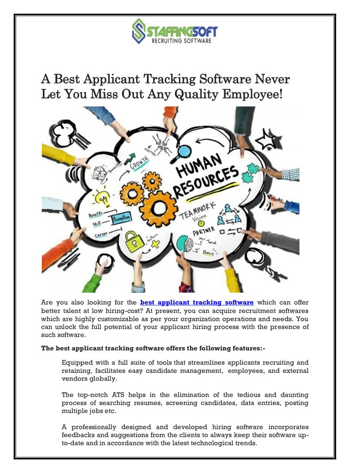 a best applicant tracking software never a best n.