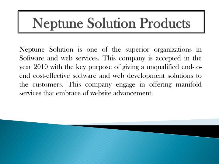 neptune solution products n.