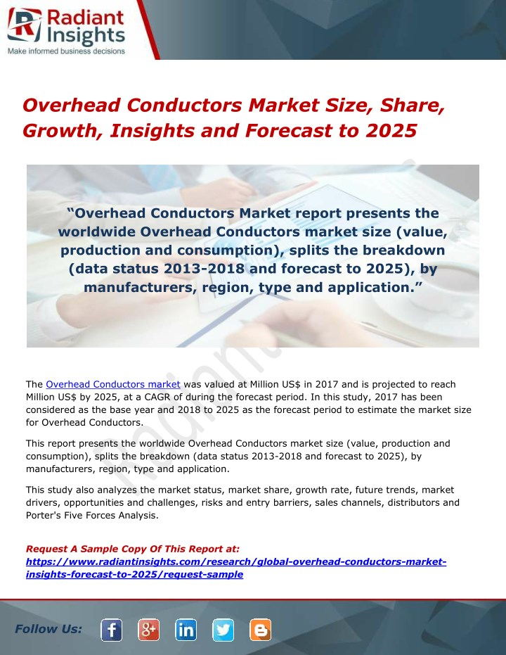 overhead conductors market size share growth n.