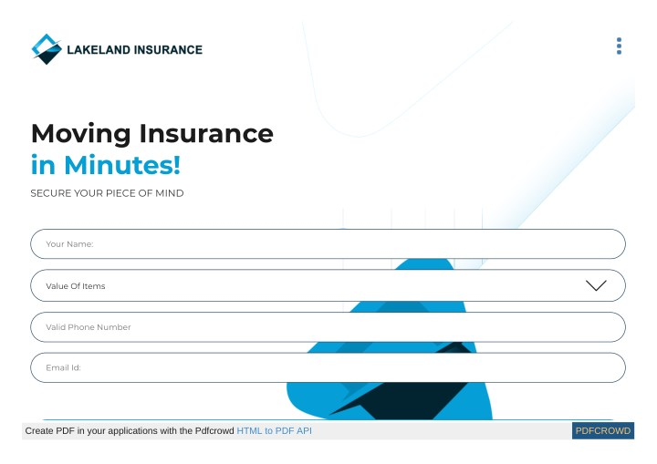 moving insurance in minutes n.