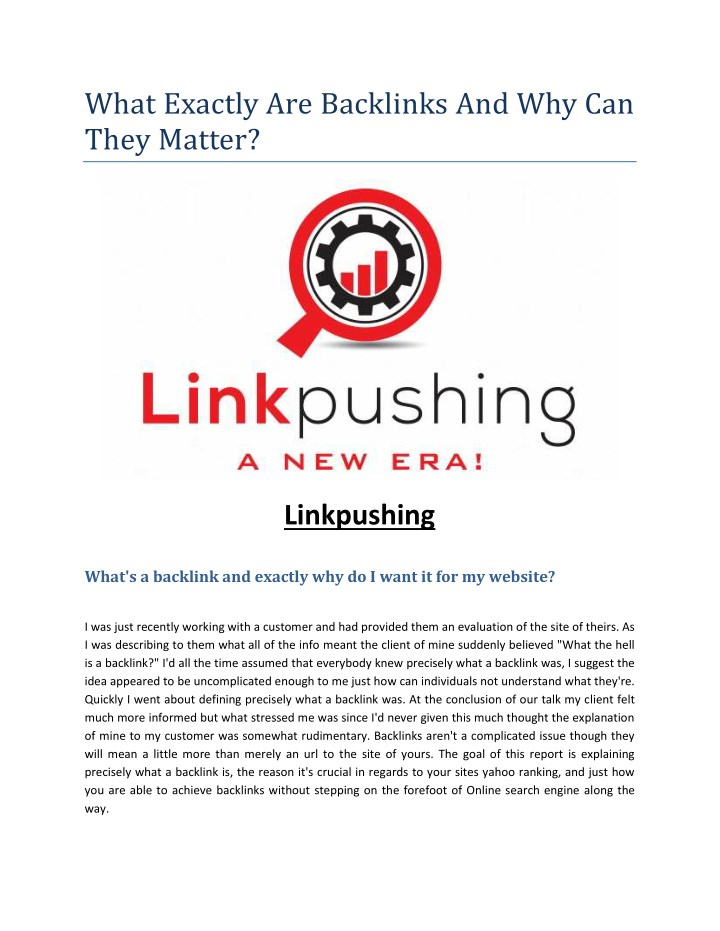 what exactly are backlinks and why can they matter n.
