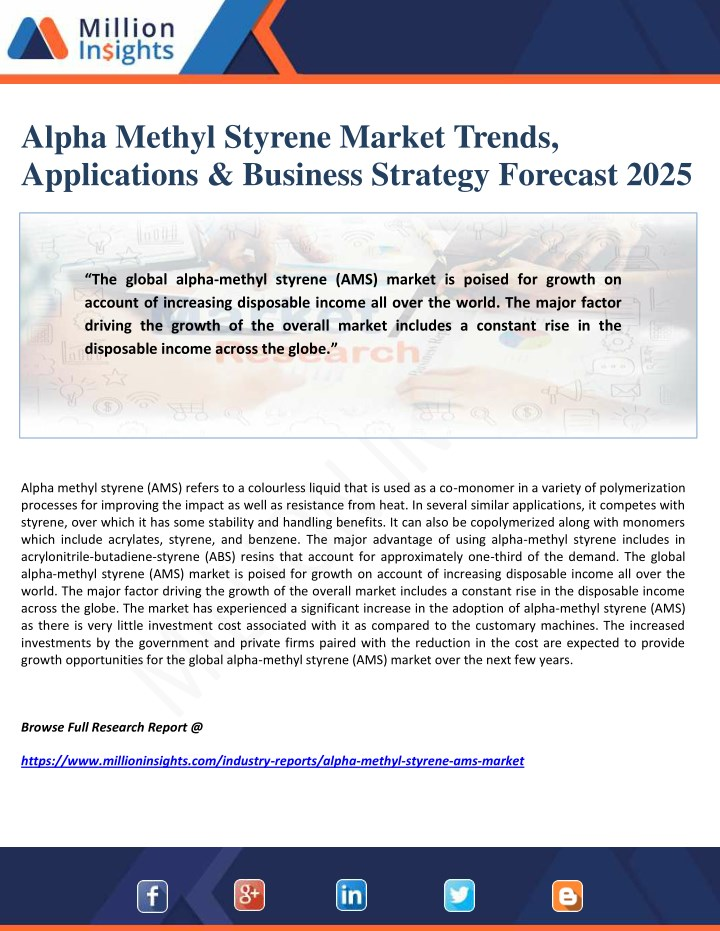 alpha methyl styrene market trends applications n.