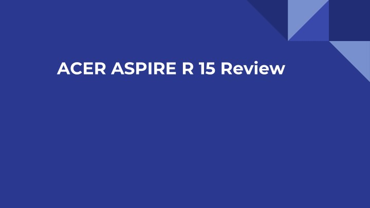 acer aspire r 15 review n.