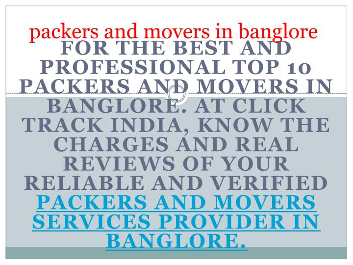 packers and movers in banglore n.