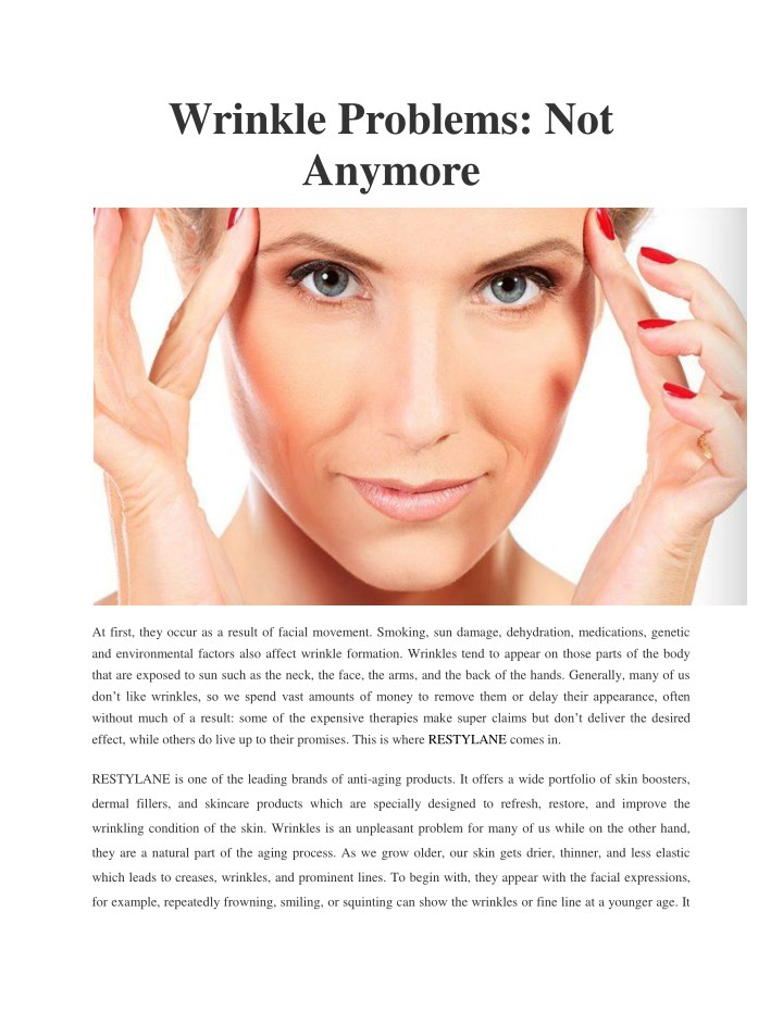 wrinkle problems not anymore n.