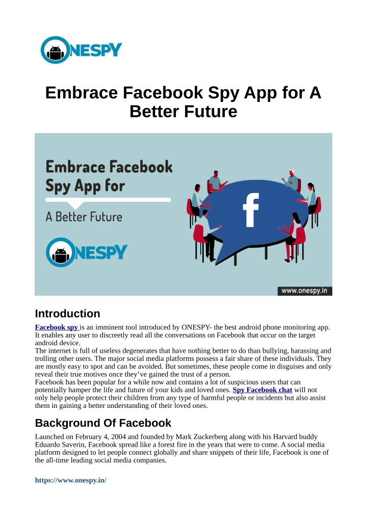 embrace facebook spy app for a better future n.